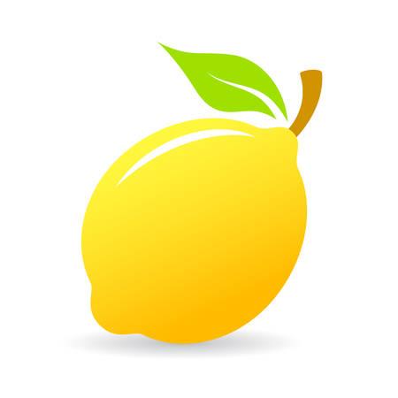 limon caricatura: Fresco limón vector icono