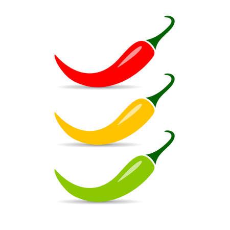 ripe: Jalapeno chili pepper vector icon Illustration