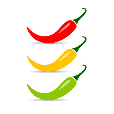 Jalapeno chili pepper vector icon Illustration