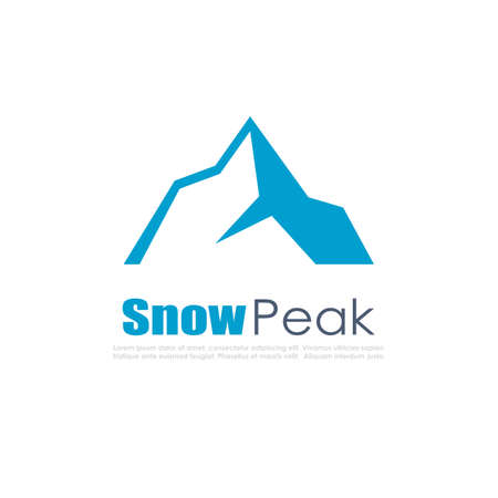 hiking: Snow mountain vector icon
