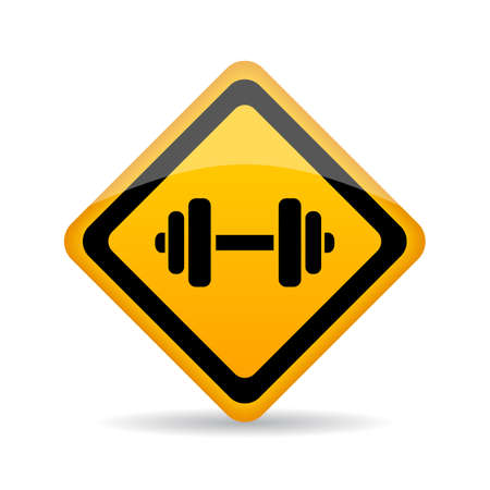 solid: Dumbbells vector sign