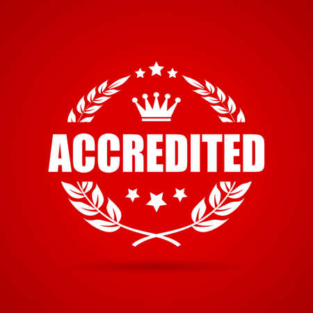 officially: Accredited award laurel vector icon