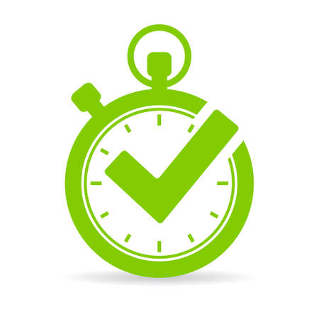 Best time vector icon Illustration
