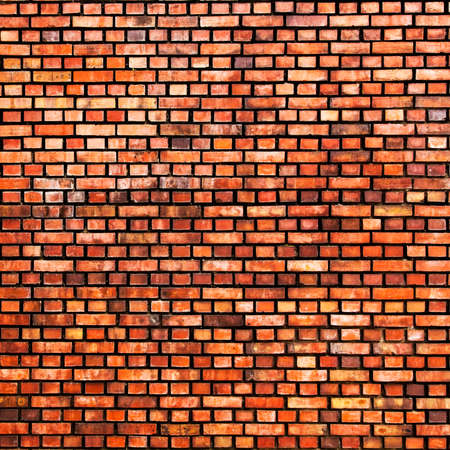 photo: Grunge old bricks wall background