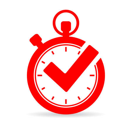 Tick timer vector icon