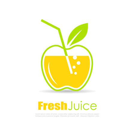 Fresh juice vector logo