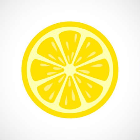 Limón icono de la rebanada del vector