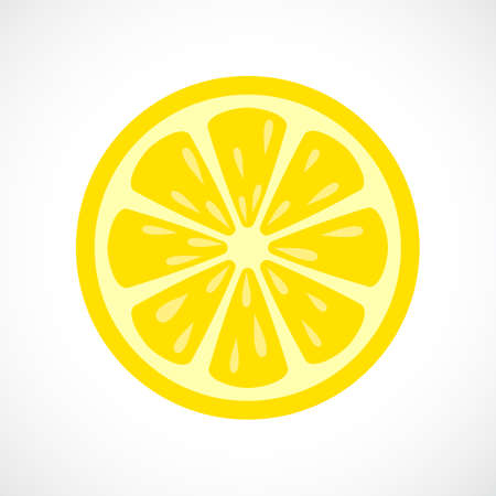 limon caricatura: Limón icono de la rebanada del vector Vectores