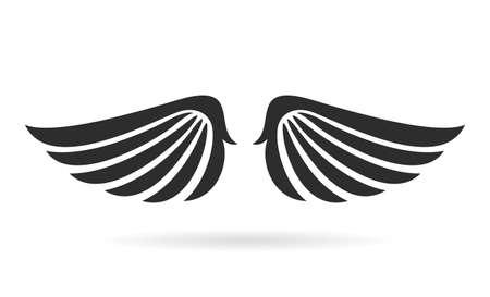 animal silhouette: Bird wings vector icon