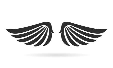 Bird wings vector icon