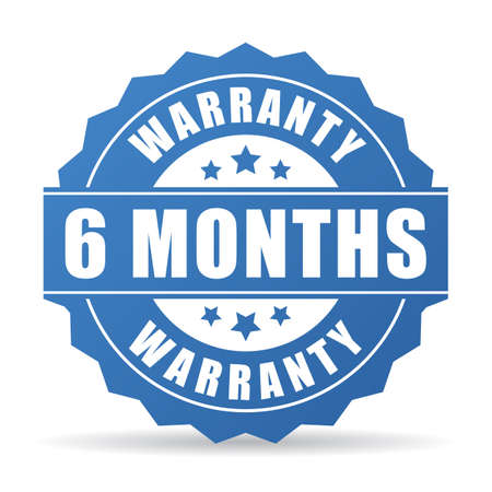 6 months warranty vector icon