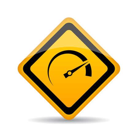 Speedometer vector sign