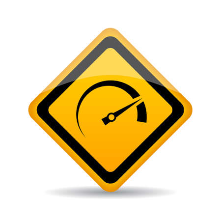 Speedometer vector sign Illustration