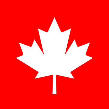 canadian flag: Maple leaf silhouette vector icon