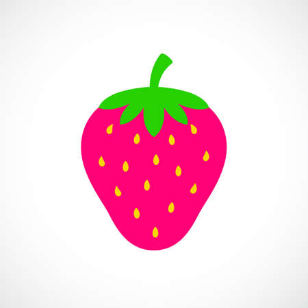 Strawberry berry vector icon