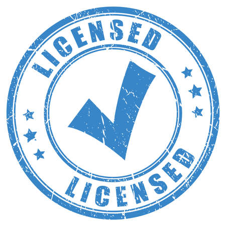 Tick licensed rubber stamp