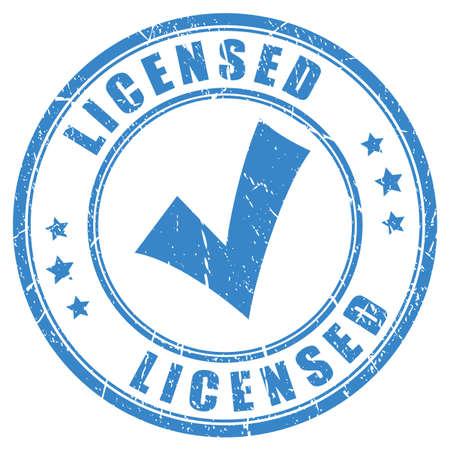 Vink licentie rubber stamp