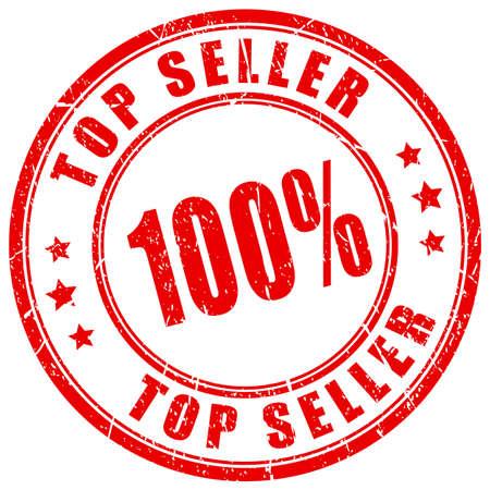 seller: Top seller rubber stamp Illustration