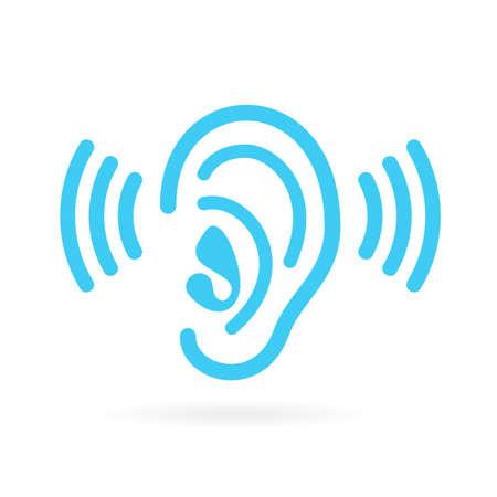 aural: Ear listen vector icon