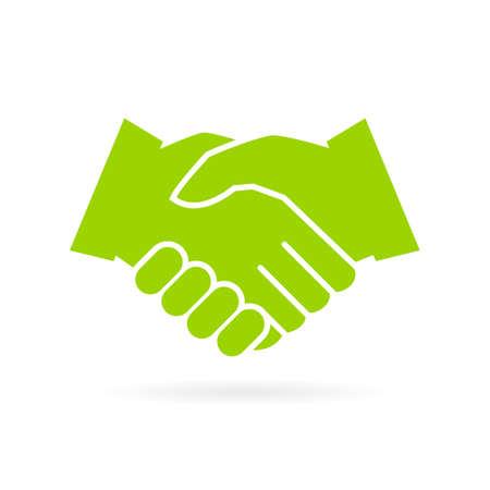 Hand shake vector icon