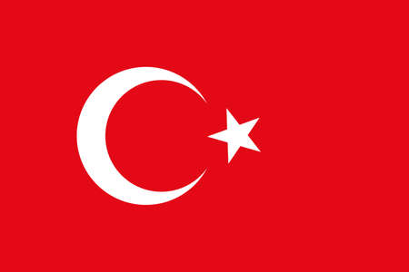turkish flag: Turkey vector flag