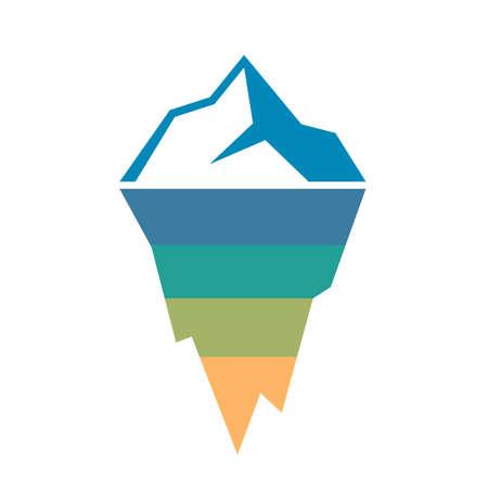 plantilla de diagrama de iceberg análisis de riesgos