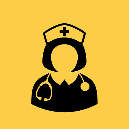 nursing uniforms: Nurse vector icon Illustration