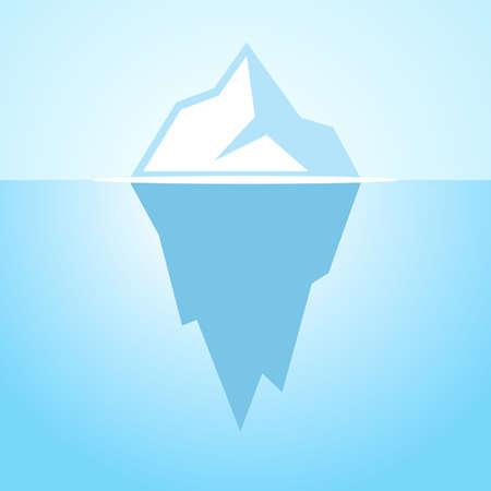Iceberg vector icon