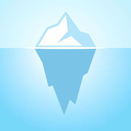 Iceberg vector icon