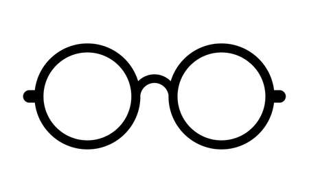 round eyes: Retro eye glasses vector icon