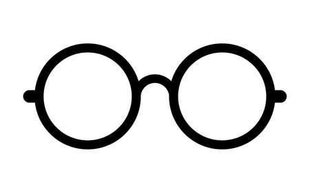 9402f9d798 Retro eye glasses vector icon