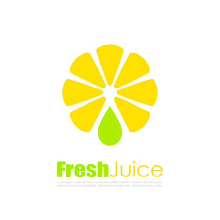 alphabet tree: Fresh juice vector logo