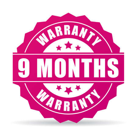 customer support: 9 months warranty vector icon