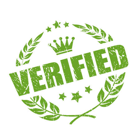 Verified business stamp