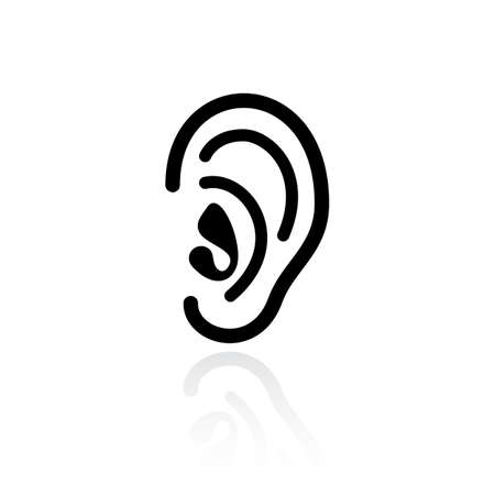 Ear hearing vector icon