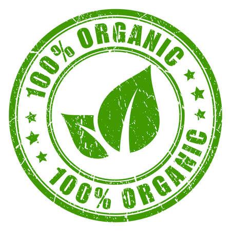 100 organique vecteur rubber stamp Vecteurs