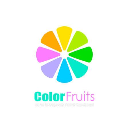 mandarins: Abstract colorful citrus vector logo