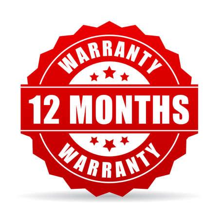 12 ヶ月保証ベクトル アイコン