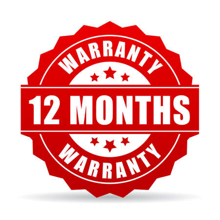 12 months warranty vector icon Illustration