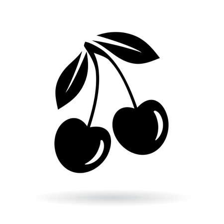 on white: Cherry vector icon illustration Illustration