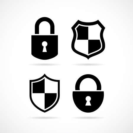 security lock: Security lock vector icon set