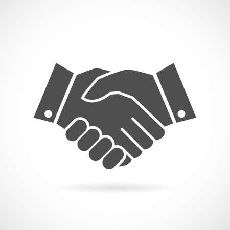 fellowship: Handshake business vector icon Illustration