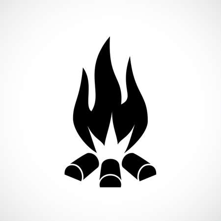 inflame: Fire blaze vector icon