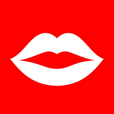 kissing mouth: Mouth lips vector icon