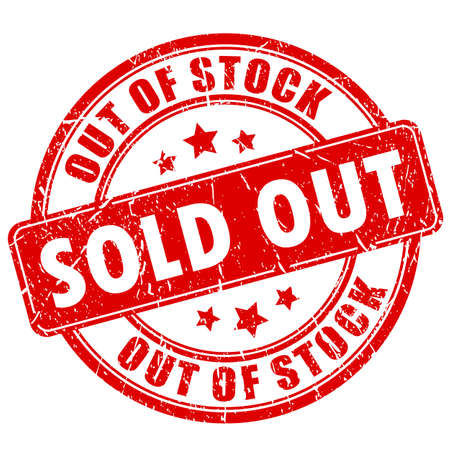Sold out rubber business stamp Stock Illustratie