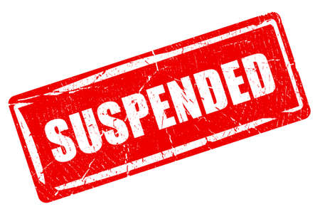 canceled: Suspended rubber stamp Stock Photo