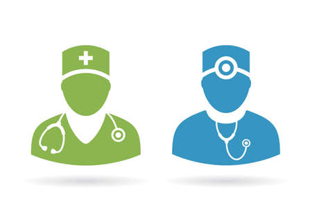 nursing uniforms: Doctor medical pictogram Illustration
