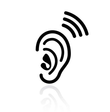 listener: Ear hearing vector icon