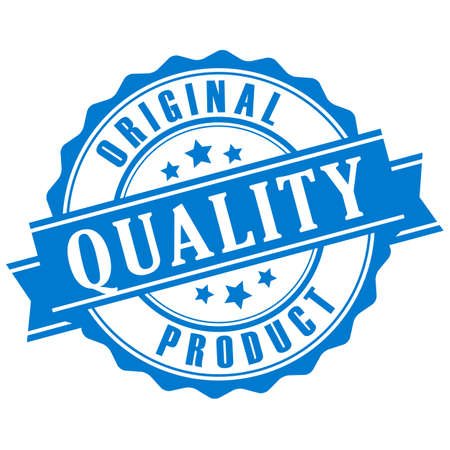 commerce: Original quality product vector stamp