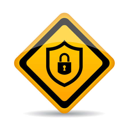 Abstract security vector sign Illustration